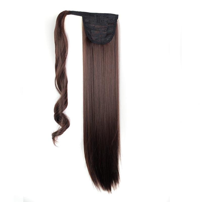 Extension-De-Cheveux-Queue-De-Cheval-Postiche-Queue-SynthETique-Longue-Ligne-7V7 miniature 16
