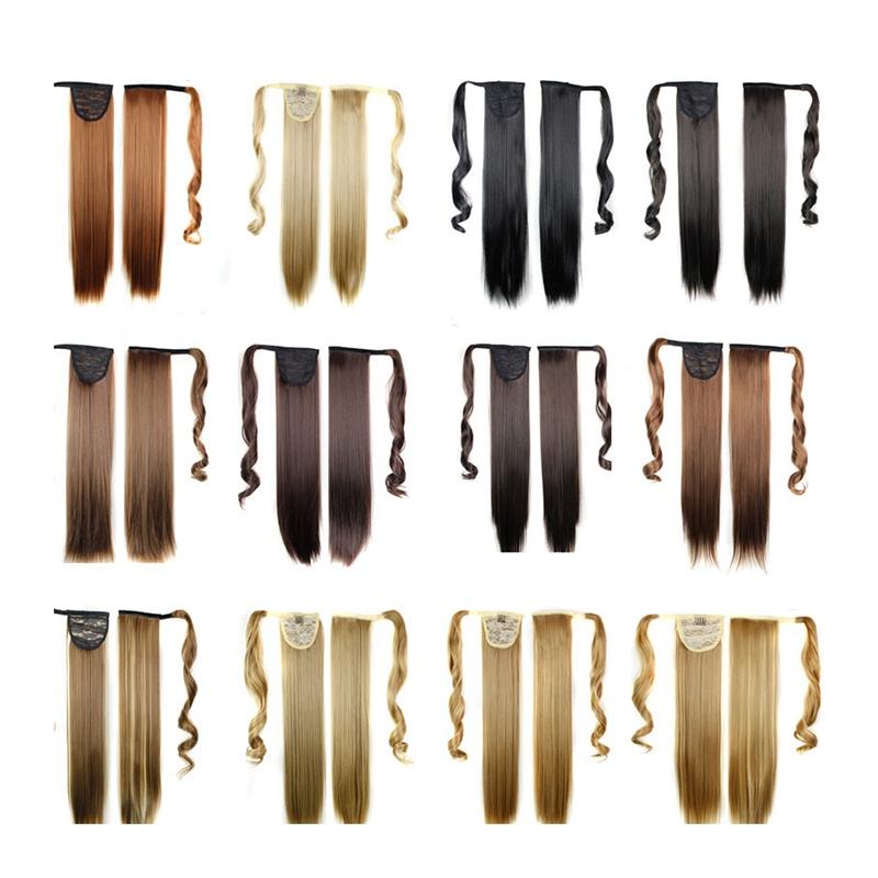Extension-De-Cheveux-Queue-De-Cheval-Postiche-Queue-SynthETique-Longue-T4G2 miniature 17