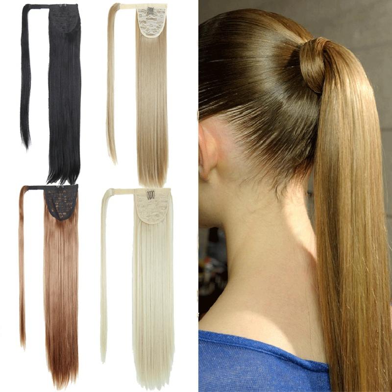 Extension-De-Cheveux-Queue-De-Cheval-Postiche-Queue-SynthETique-Longue-T4G2 miniature 19