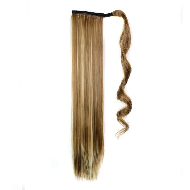 Extension-De-Cheveux-Queue-De-Cheval-Postiche-Queue-SynthETique-Longue-Ligne-7V7 miniature 51