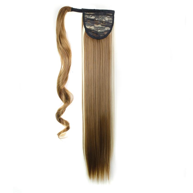 Extension-De-Cheveux-Queue-De-Cheval-Postiche-Queue-SynthETique-Longue-Ligne-7V7 miniature 52