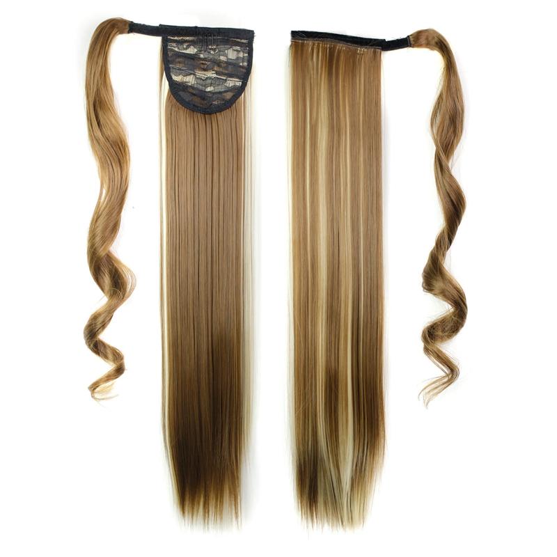 Extension-De-Cheveux-Queue-De-Cheval-Postiche-Queue-SynthETique-Longue-Ligne-7V7 miniature 54