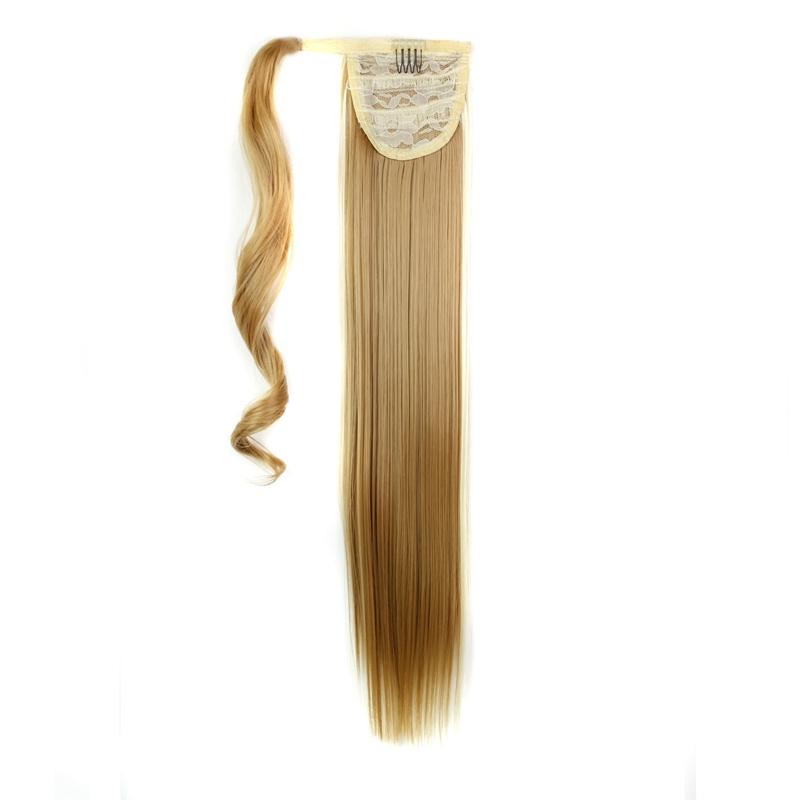 Extension-De-Cheveux-Queue-De-Cheval-Postiche-Queue-SynthETique-Longue-Ligne-7V7 miniature 64