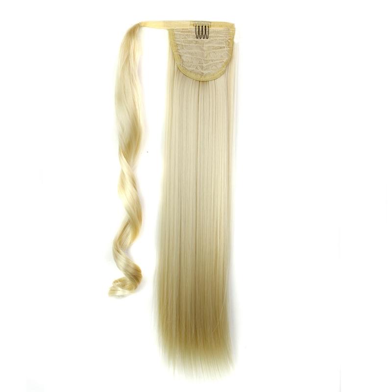 Extension-De-Cheveux-Queue-De-Cheval-Postiche-Queue-SynthETique-Longue-Ligne-7V7 miniature 82