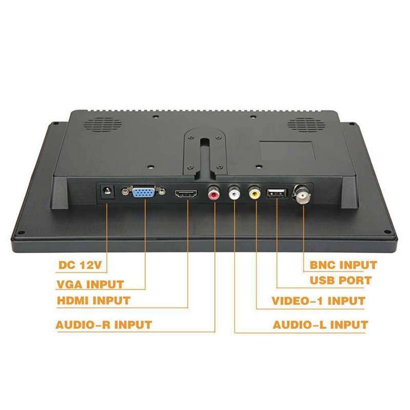 2X(10,1 Zoll Kleiner Tragbarer Laptop Computer Monitor Mit ...