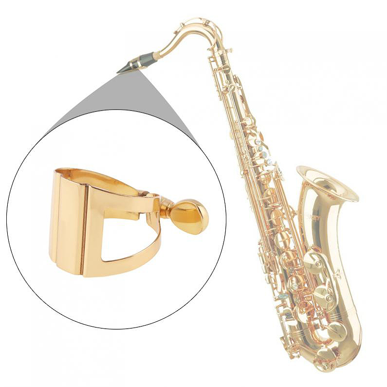 Saxophone-Mouthpiece-Ligature-Gold-Plated-Ligature-Fastener-For-Rubber-Mou-S3T5 thumbnail 10