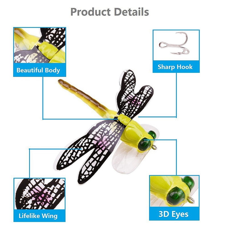 1X-Fishing-Floating-Bait-Dragonfly-Artificial-Simulated-Fly-Fishing-Lure-Co3D1 thumbnail 4