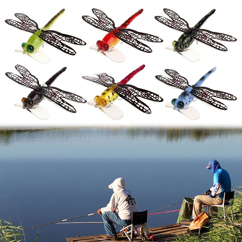 1X-Fishing-Floating-Bait-Dragonfly-Artificial-Simulated-Fly-Fishing-Lure-Co3D1 thumbnail 22