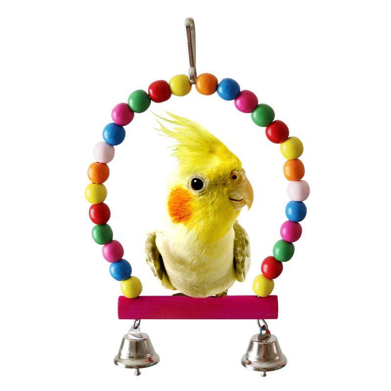 2X-Packung-Mit-5-Vogel-Kauen-Spielzeug-Vogel-Haengende-Glocke-Vogel-Leiter-H-H9C4 Indexbild 2