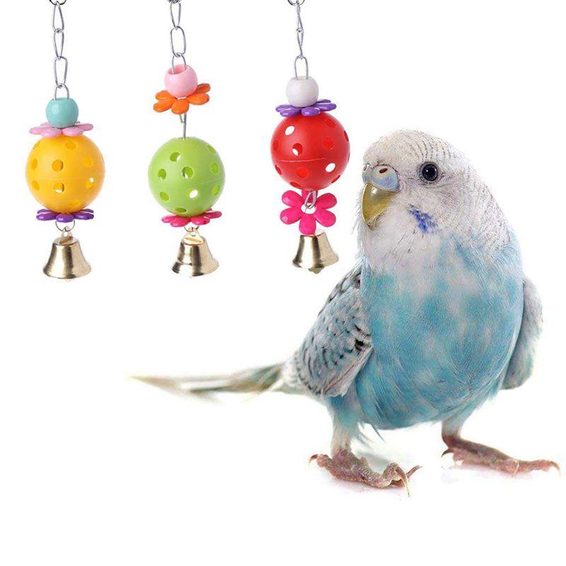2X-Packung-Mit-5-Vogel-Kauen-Spielzeug-Vogel-Haengende-Glocke-Vogel-Leiter-H-H9C4 Indexbild 3
