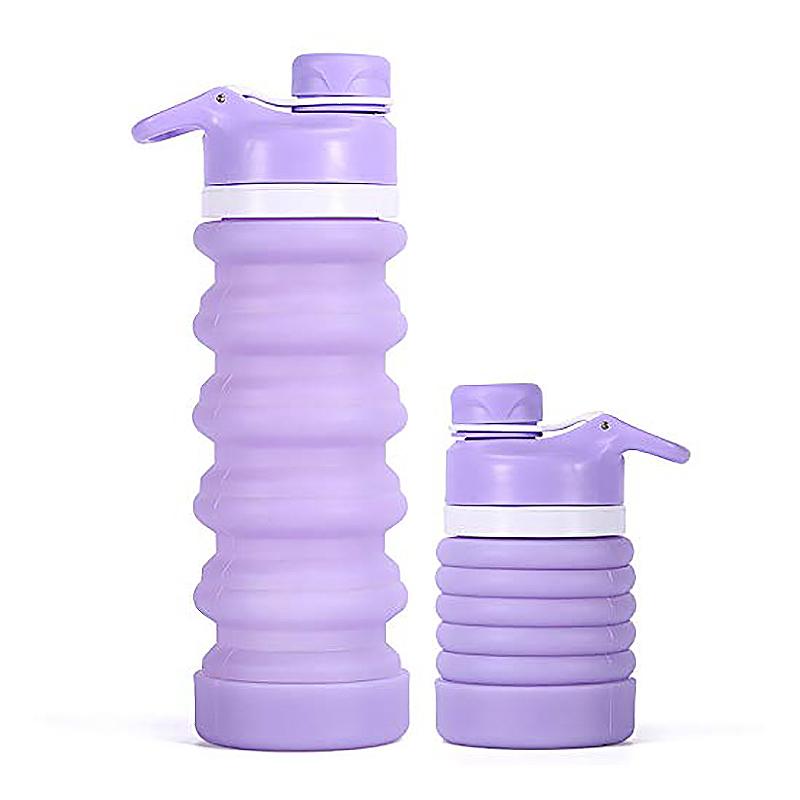 Faltbare-Wasser-Flasche-Teleskop-Wasser-Kocher-Fitness-Wasser-Flasche-550Ml-Z8S9 Indexbild 3