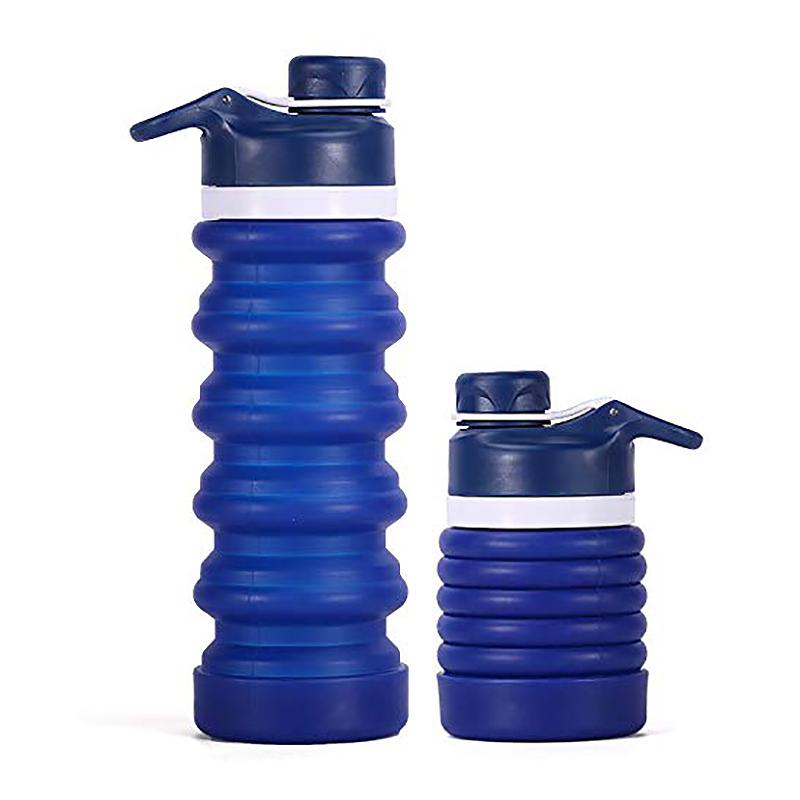 Faltbare-Wasser-Flasche-Teleskop-Wasser-Kocher-Fitness-Wasser-Flasche-550Ml-Z8S9 Indexbild 9