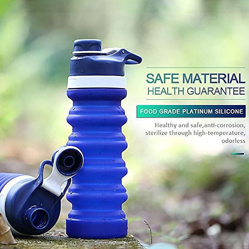 Faltbare-Wasser-Flasche-Teleskop-Wasser-Kocher-Fitness-Wasser-Flasche-550Ml-Z8S9 Indexbild 11