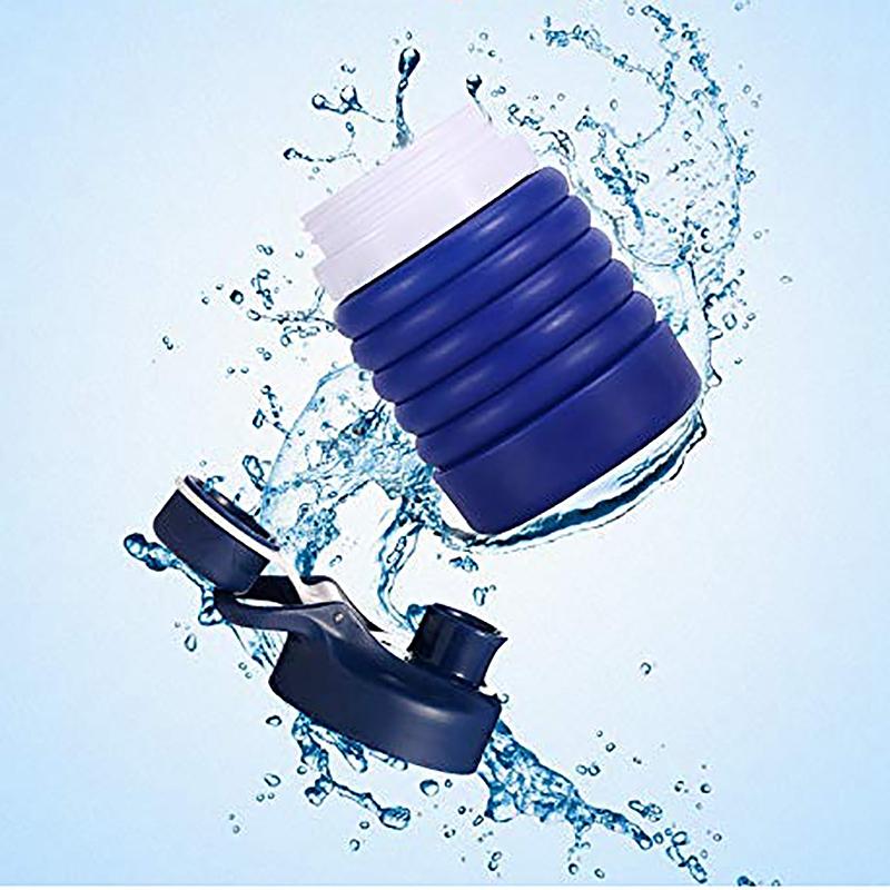 Faltbare-Wasser-Flasche-Teleskop-Wasser-Kocher-Fitness-Wasser-Flasche-550Ml-Z8S9 Indexbild 14
