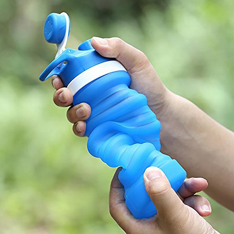 Faltbare-Wasser-Flasche-Teleskop-Wasser-Kocher-Fitness-Wasser-Flasche-550Ml-Z8S9 Indexbild 18