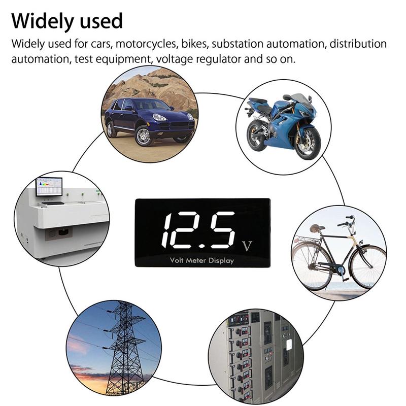 Motorcycle-Mini-Led-Digital-Voltmeter-Meter-M4B7 thumbnail 7