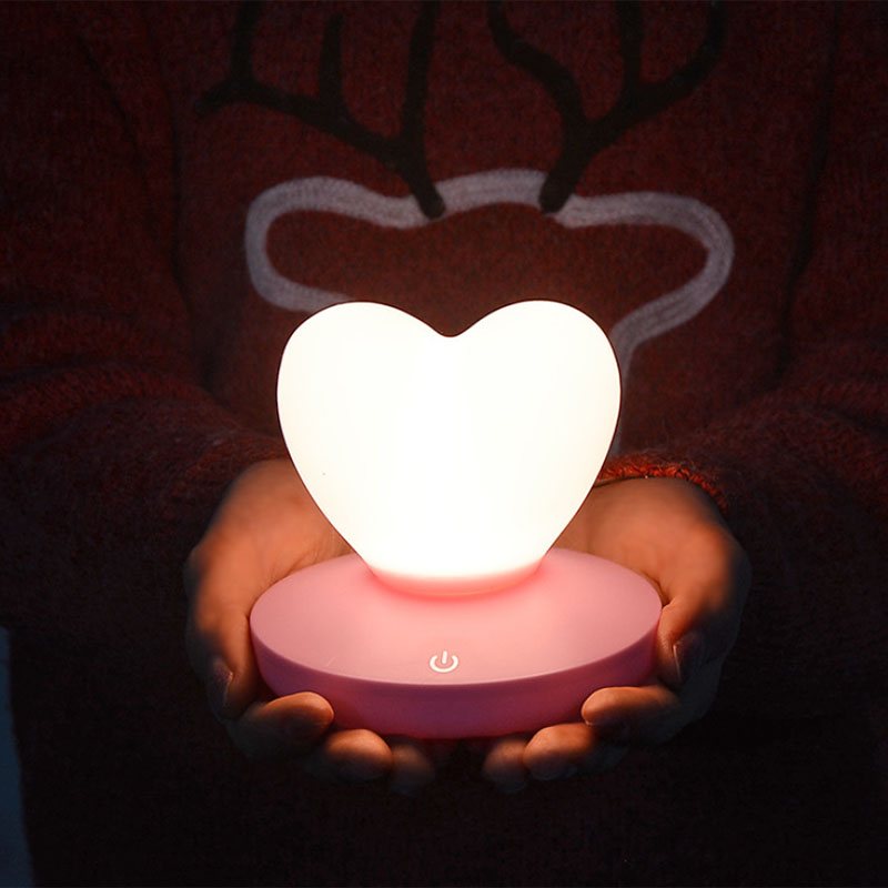 2X-Dimmable-Led-Night-Light-Lamp-Silicon-Love-Heart-For-Baby-Children-Kids-7A5 thumbnail 9