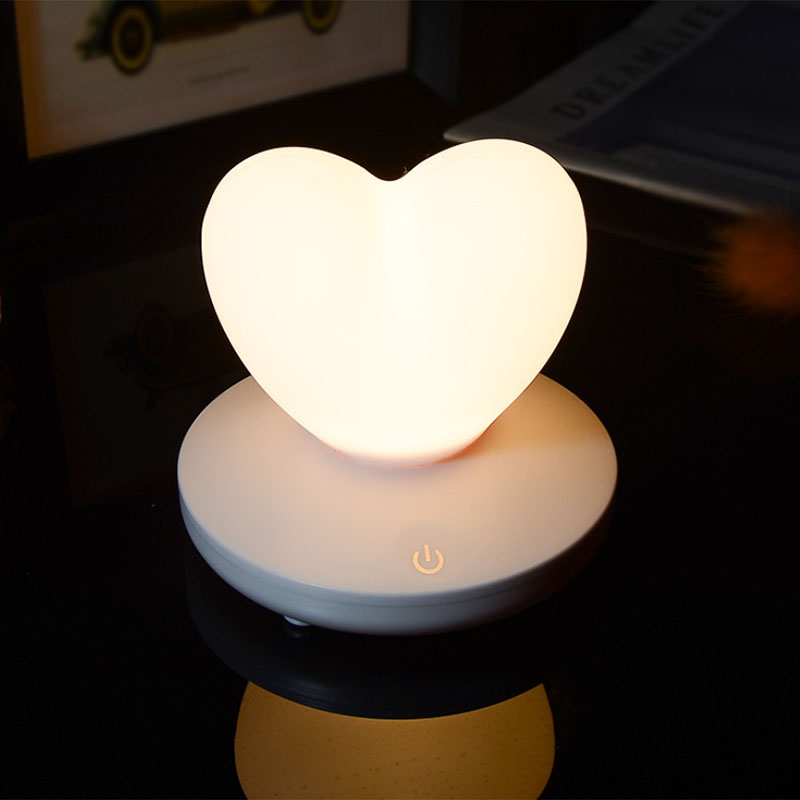 2X-Dimmable-Led-Night-Light-Lamp-Silicon-Love-Heart-For-Baby-Children-Kids-7A5 thumbnail 11
