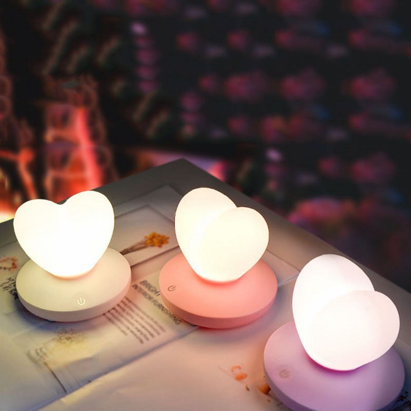 2X-Dimmable-Led-Night-Light-Lamp-Silicon-Love-Heart-For-Baby-Children-Kids-7A5 thumbnail 17