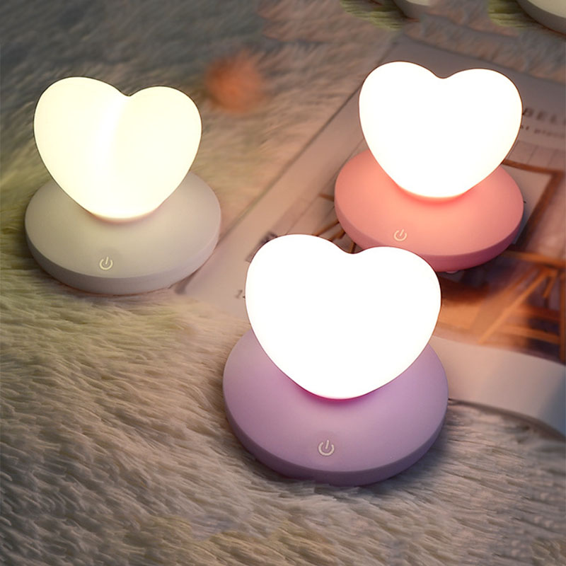 2X-Dimmable-Led-Night-Light-Lamp-Silicon-Love-Heart-For-Baby-Children-Kids-7A5 thumbnail 20