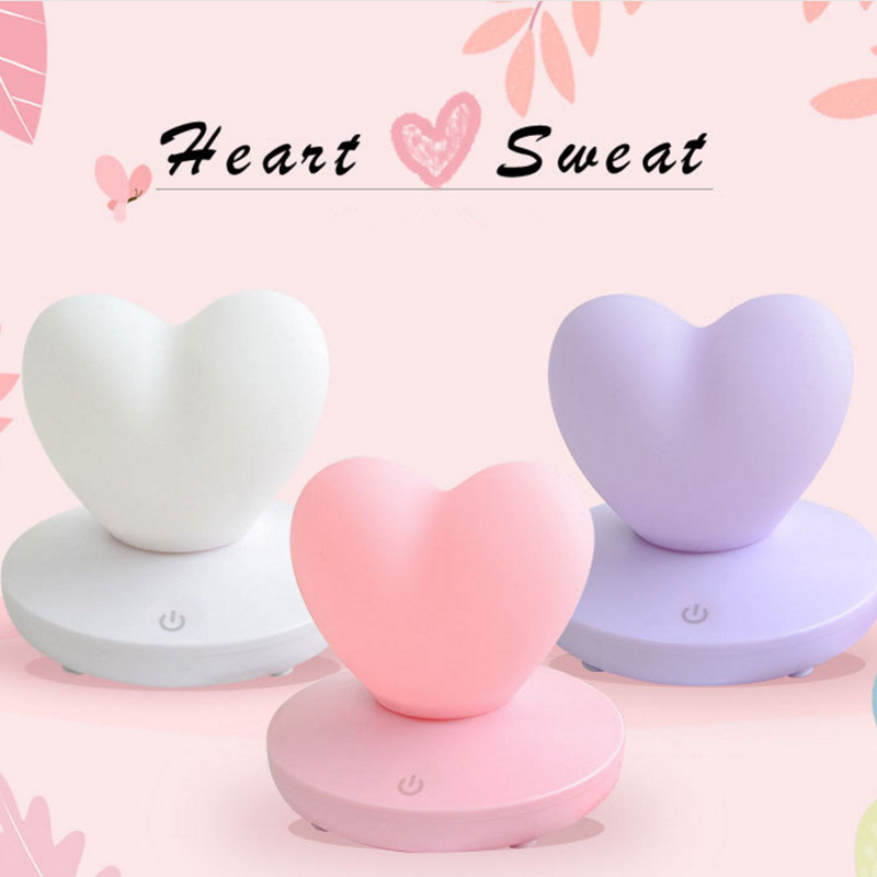 2X-Dimmable-Led-Night-Light-Lamp-Silicon-Love-Heart-For-Baby-Children-Kids-7A5 thumbnail 25