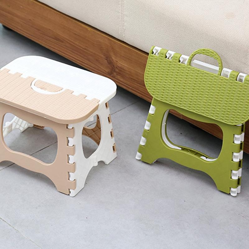 Tabouret-Pliant-En-Plastique-Chaise-Epaississante-Meubles-De-Maison-Portabl-N1P1 miniature 5