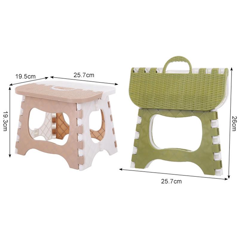 Tabouret-Pliant-En-Plastique-Chaise-Epaississante-Meubles-De-Maison-Portabl-N1P1 miniature 6