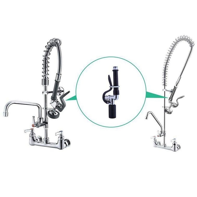 1X-Pre-Rinse-Sprayer-Commercial-Faucet-Pull-Out-Kitchen-Hand-Shower-Head-Di8B5 thumbnail 5