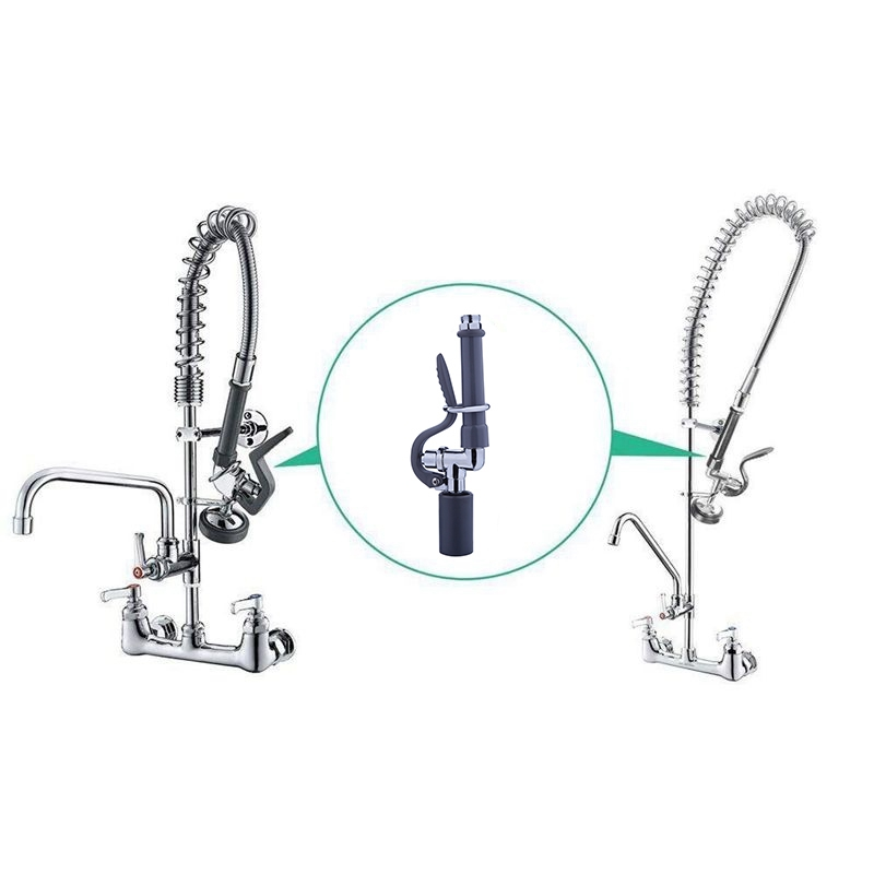 1X-Pre-Rinse-Sprayer-Commercial-Faucet-Pull-Out-Kitchen-Hand-Shower-Head-Di8B5 thumbnail 11
