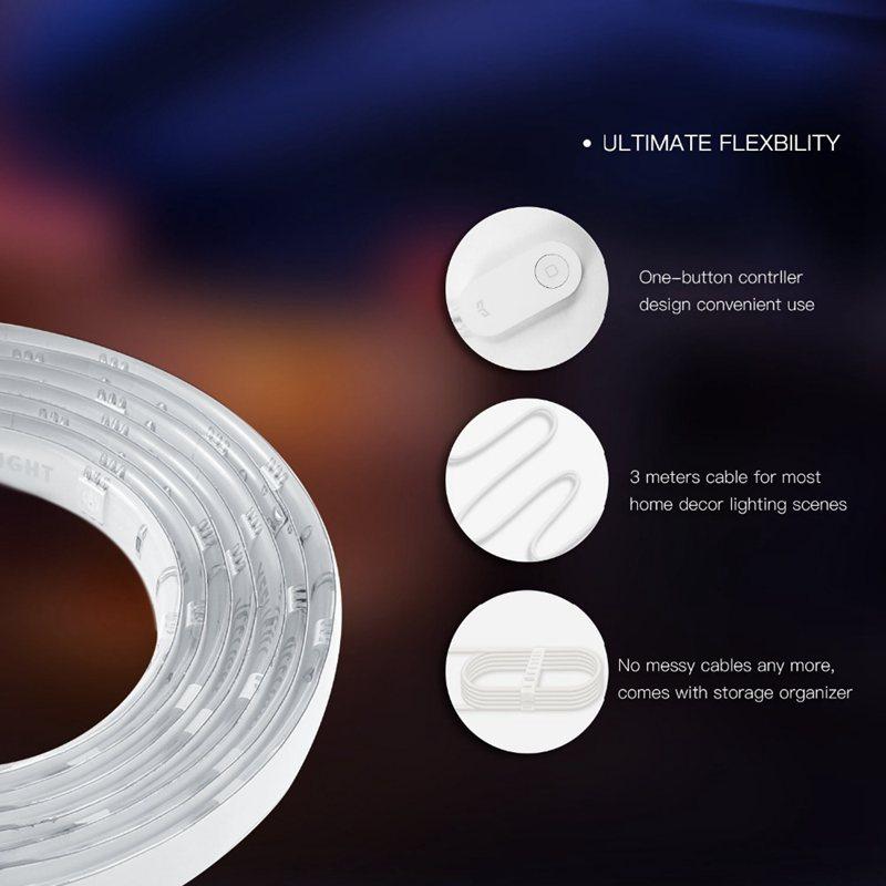 Yeelight-Yldd04Yl-Rgb-Led-2M-Smart-Light-Strip-Smart-Home-For-Mi-Home-App-W-X6T5 thumbnail 5