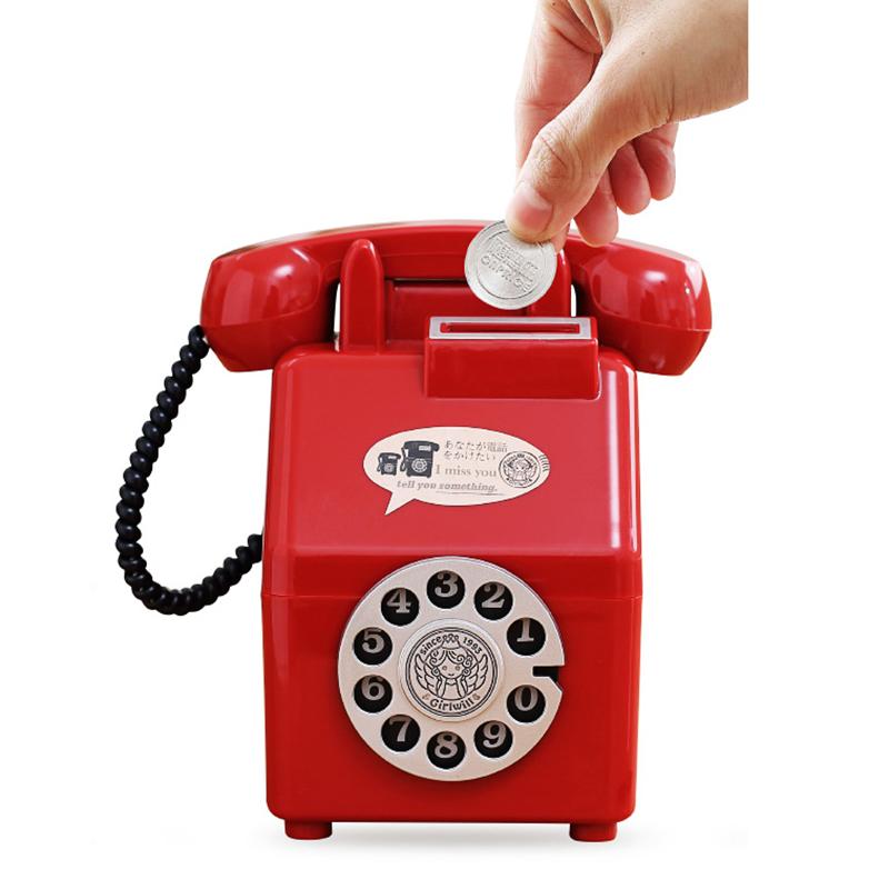 Amicable Tirelire De Telephone Retro Pour Enfants Cochon Tirelire Creatif Epargne De D2z7