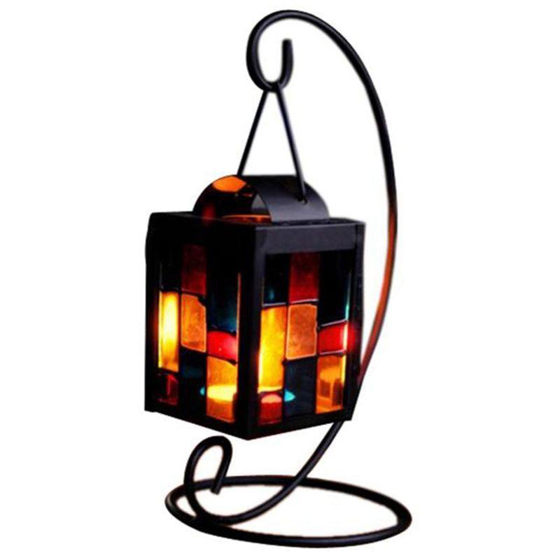 Mini Christmas Candlestick Pendant Simulate Lamp Light Festival Table Decor DA