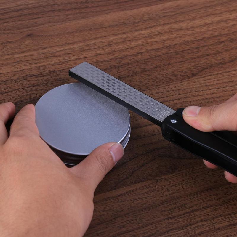 2-Side-Folding-Fan-Shape-Stone-Diamond-Knife-Sharpener-Outdoor-Repair-Tools-K3V1 thumbnail 7