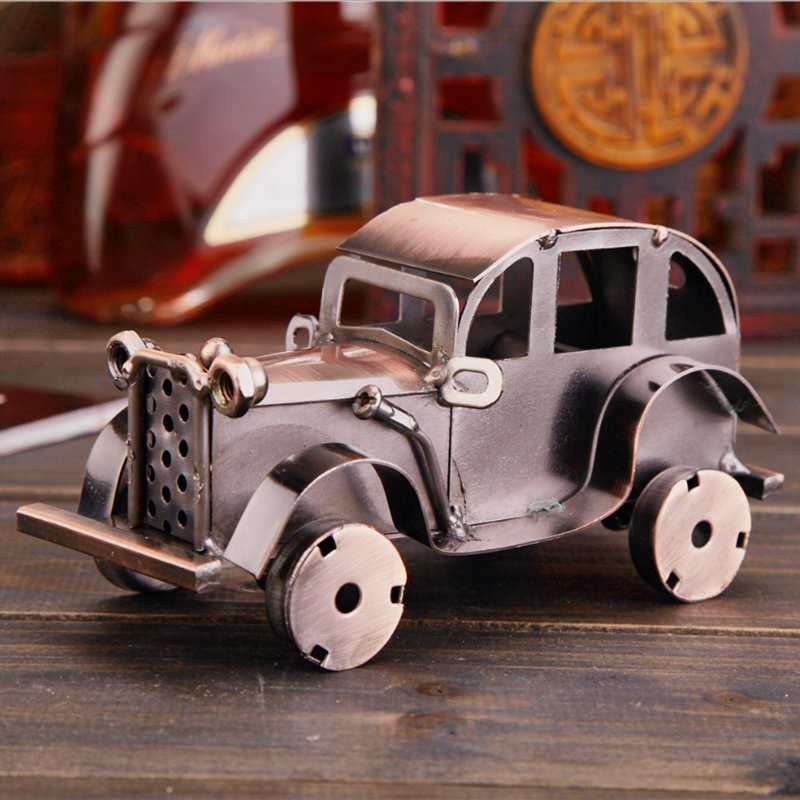 CamioN-Antiguo-Modelo-De-Coche-ClASico-Artesan-A-De-Metal-Vintage-Decoracio-S8Y3 miniatura 3