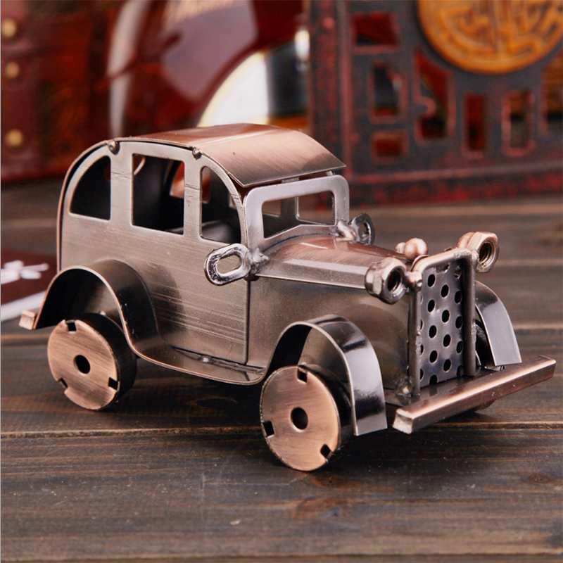 CamioN-Antiguo-Modelo-De-Coche-ClASico-Artesan-A-De-Metal-Vintage-Decoracio-S8Y3 miniatura 4