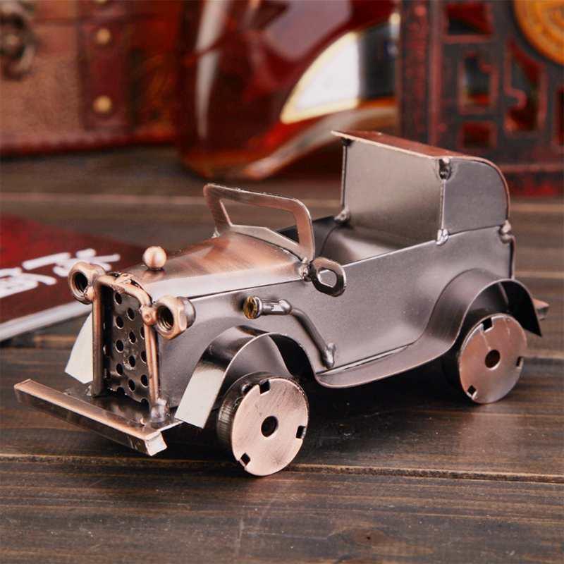 CamioN-Antiguo-Modelo-De-Coche-ClASico-Artesan-A-De-Metal-Vintage-Decoracio-S8Y3 miniatura 5