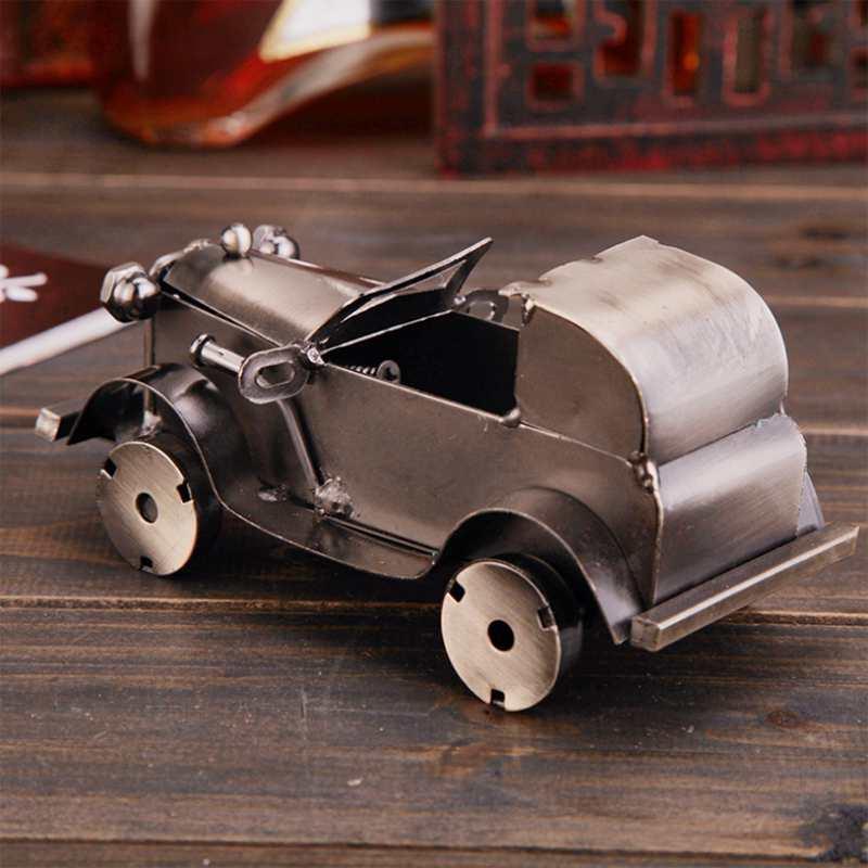 CamioN-Antiguo-Modelo-De-Coche-ClASico-Artesan-A-De-Metal-Vintage-Decoracio-S8Y3 miniatura 6