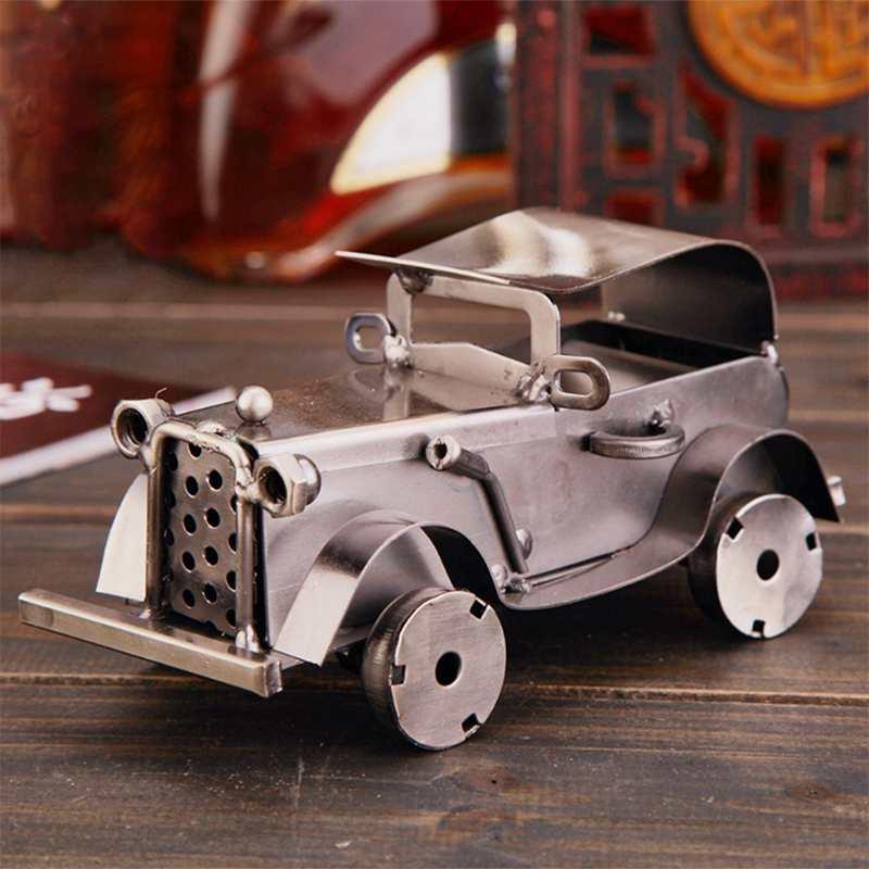 CamioN-Antiguo-Modelo-De-Coche-ClASico-Artesan-A-De-Metal-Vintage-Decoracio-S8Y3 miniatura 7