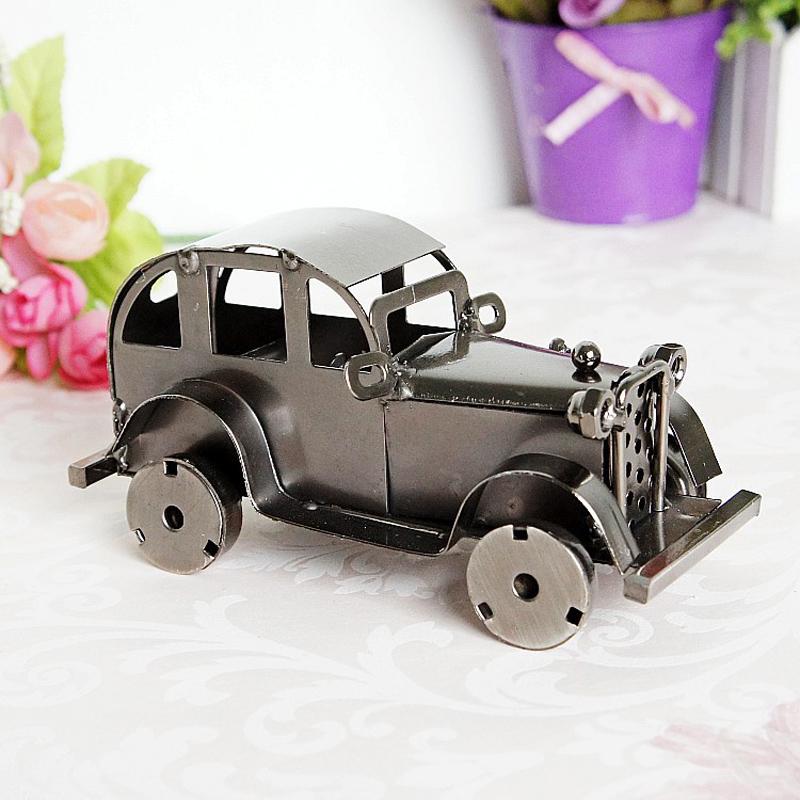 CamioN-Antiguo-Modelo-De-Coche-ClASico-Artesan-A-De-Metal-Vintage-Decoracio-S8Y3 miniatura 9