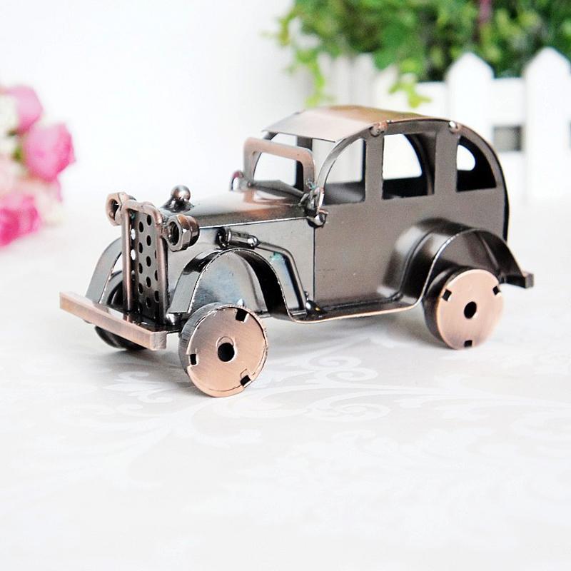 CamioN-Antiguo-Modelo-De-Coche-ClASico-Artesan-A-De-Metal-Vintage-Decoracio-S8Y3 miniatura 10