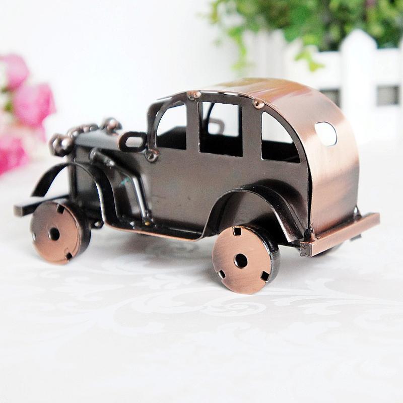 CamioN-Antiguo-Modelo-De-Coche-ClASico-Artesan-A-De-Metal-Vintage-Decoracio-S8Y3 miniatura 12
