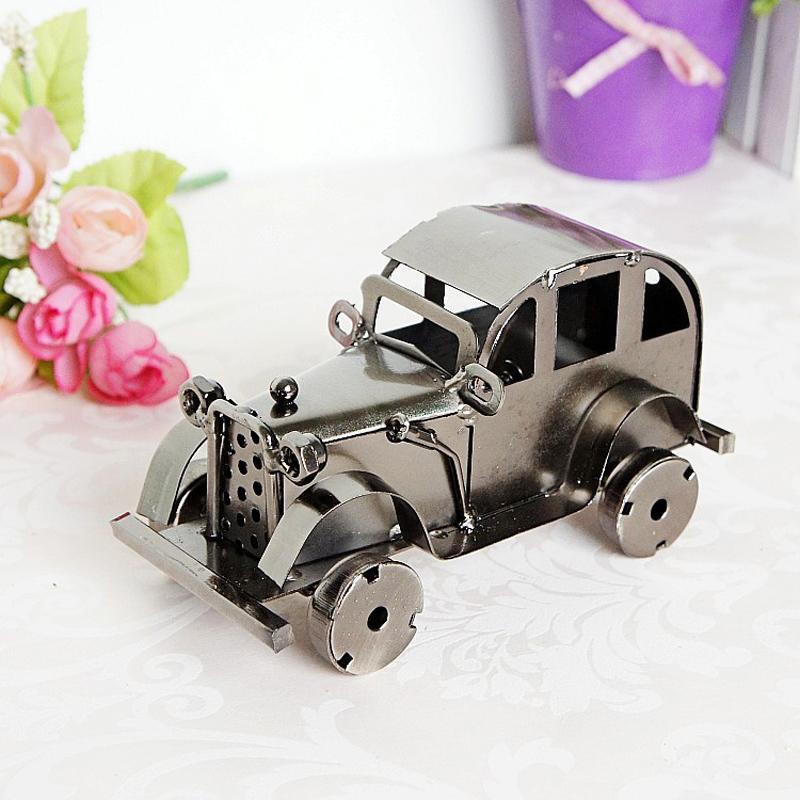 CamioN-Antiguo-Modelo-De-Coche-ClASico-Artesan-A-De-Metal-Vintage-Decoracio-S8Y3 miniatura 13