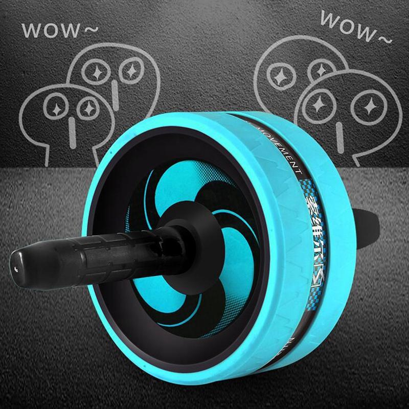 SOWELL-Rouleau-Exerciseur-Abdominal-Double-Roue-de-Fitness-Stimulateur-Musc-K1J2 miniature 8