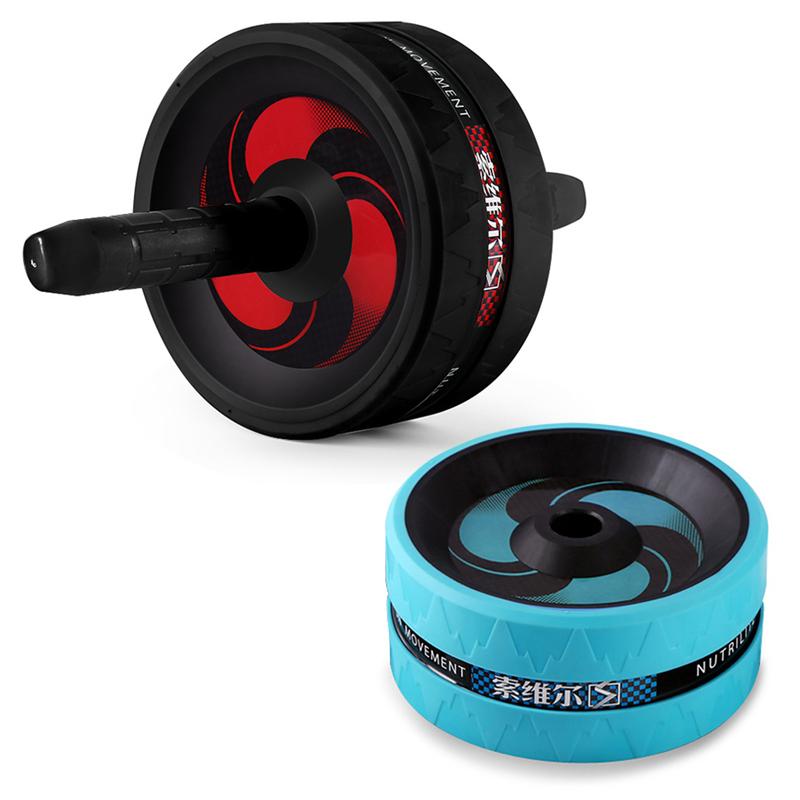 SOWELL-Rouleau-Exerciseur-Abdominal-Double-Roue-de-Fitness-Stimulateur-Musc-K1J2 miniature 9