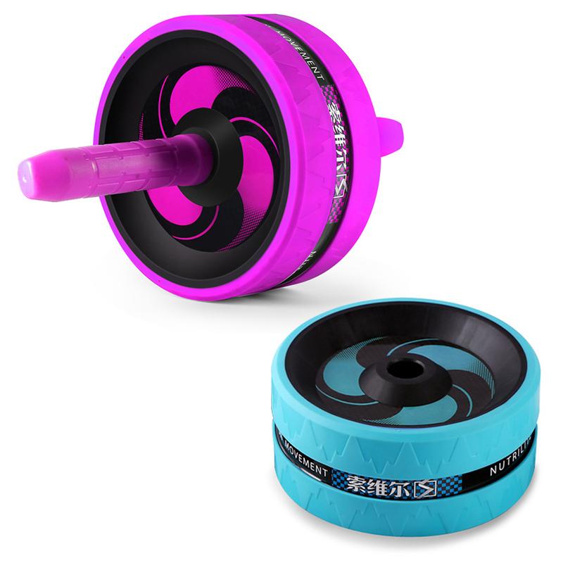 SOWELL-Rouleau-Exerciseur-Abdominal-Double-Roue-de-Fitness-Stimulateur-Musc-K1J2 miniature 10