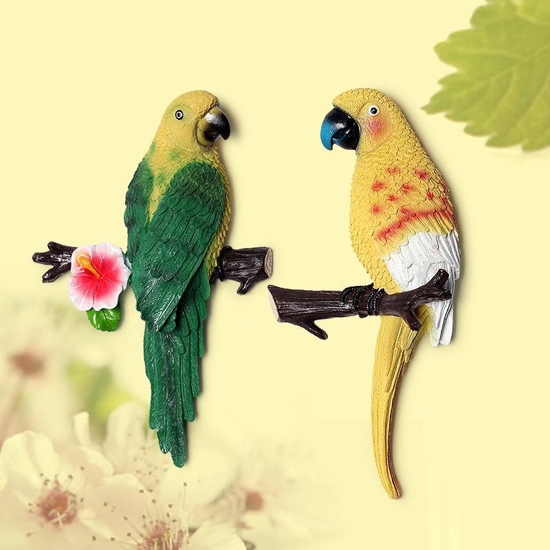 1X-Parrot-Mural-European-Style-Garden-Home-Living-Room-Background-Wall-Hang2P2 thumbnail 5