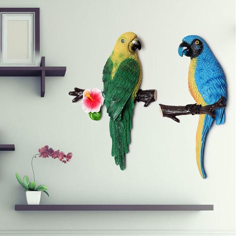 1X-Parrot-Mural-European-Style-Garden-Home-Living-Room-Background-Wall-Hang2P2 thumbnail 6