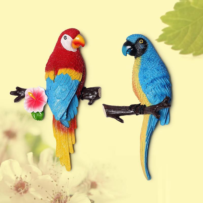 1X-Parrot-Mural-European-Style-Garden-Home-Living-Room-Background-Wall-Hang2P2 thumbnail 11