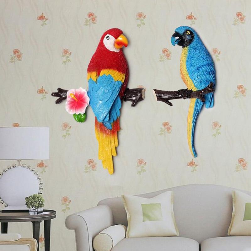 1X-Parrot-Mural-European-Style-Garden-Home-Living-Room-Background-Wall-Hang2P2 thumbnail 12