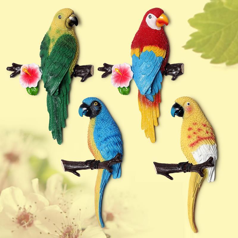 1X-Parrot-Mural-European-Style-Garden-Home-Living-Room-Background-Wall-Hang2P2 thumbnail 13